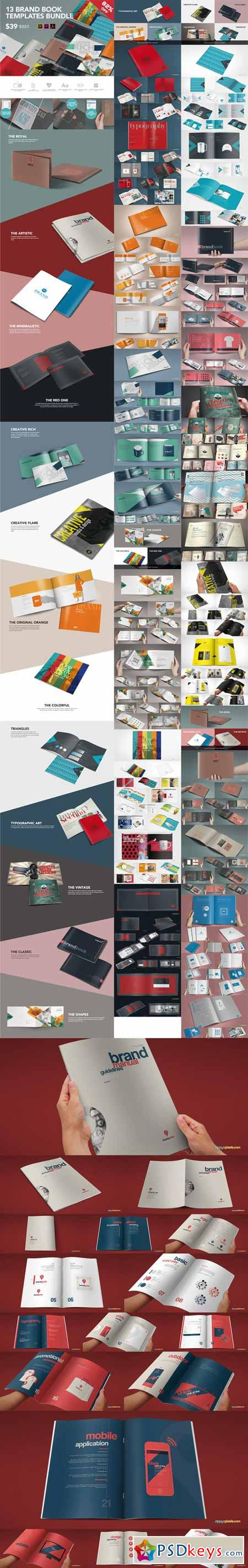 13 Brand Guidelines Templates Bundle 333963 » Free Download ...