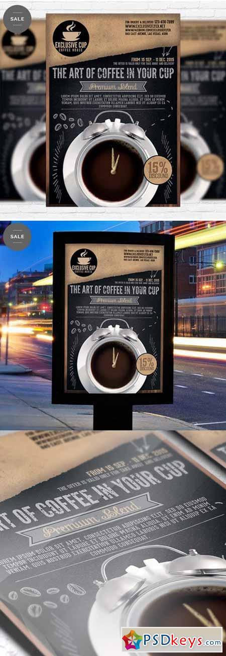 coffee shop  u2013 business flyer psd template  u00bb free download