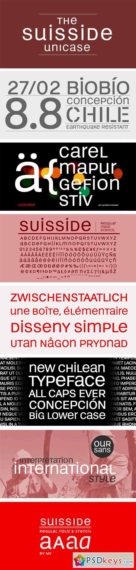 Suisside Font Family
