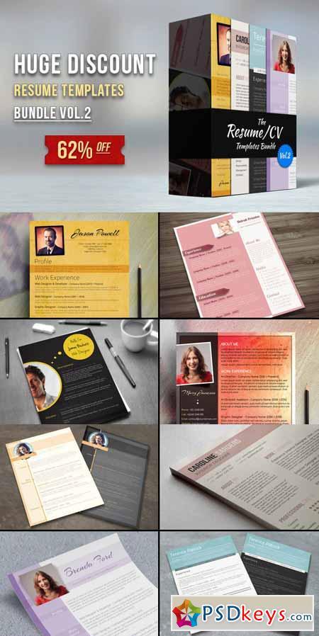 premium resume bundle vol 2 79138 free download photoshop vector