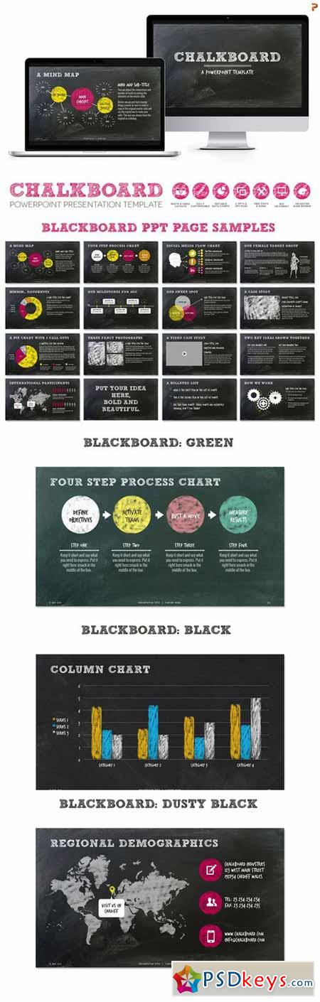 chalkboard ppt presentation template 274012 » free download, Modern powerpoint