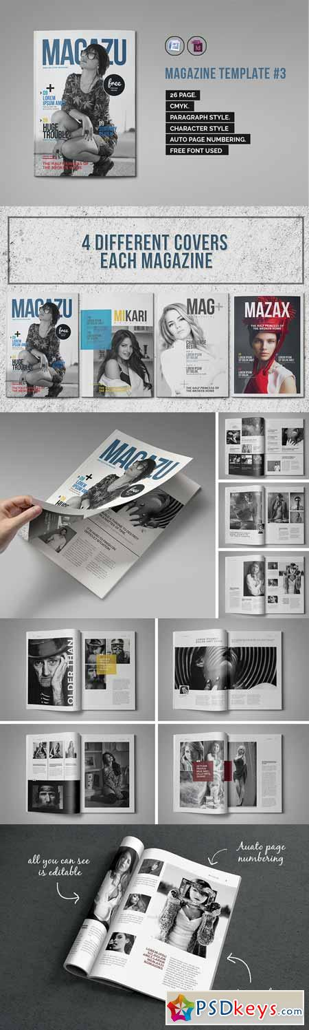 indesign magazine template 3 333399 free download photoshop vector stock image via torrent. Black Bedroom Furniture Sets. Home Design Ideas