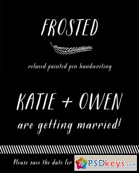 Frosted Font 317382
