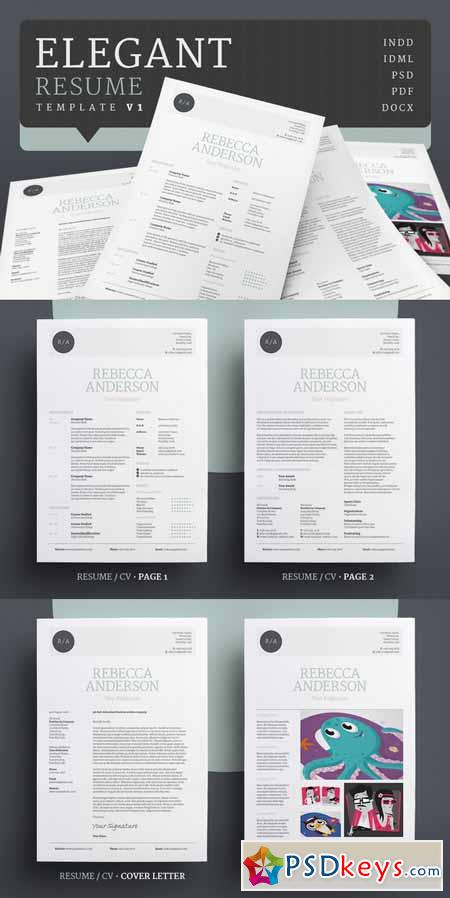 elegant resume cv v1 342003  u00bb free download photoshop vector stock image via torrent zippyshare