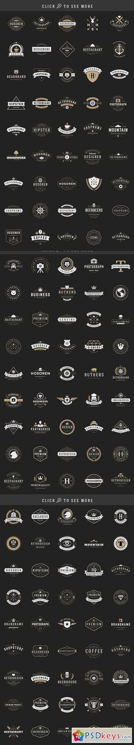 150 Retro Vintage Logotypes 208025
