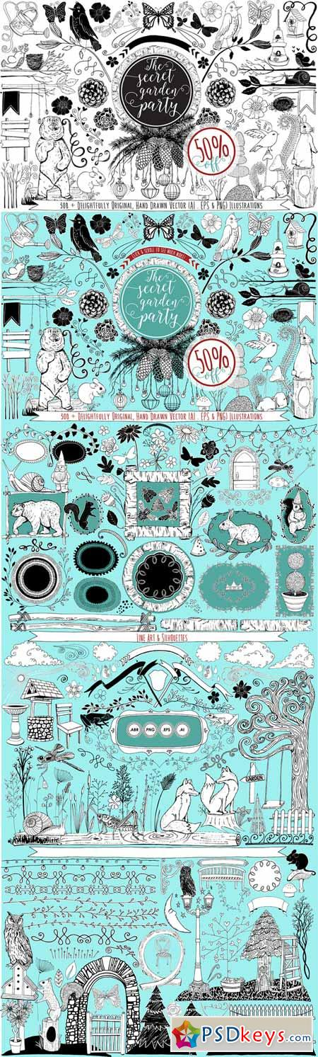 441 Hand Drawn Vector Design Resouce 288798