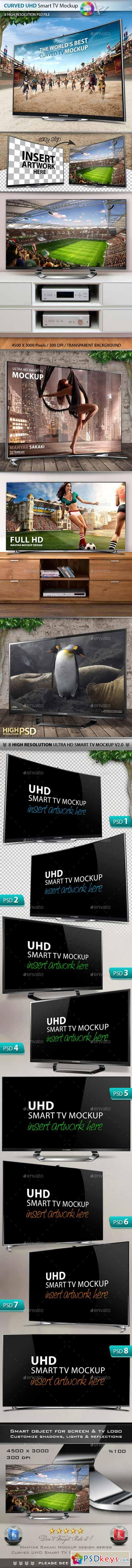 8 UHD Smart Screen Mockup V2.0  10147978
