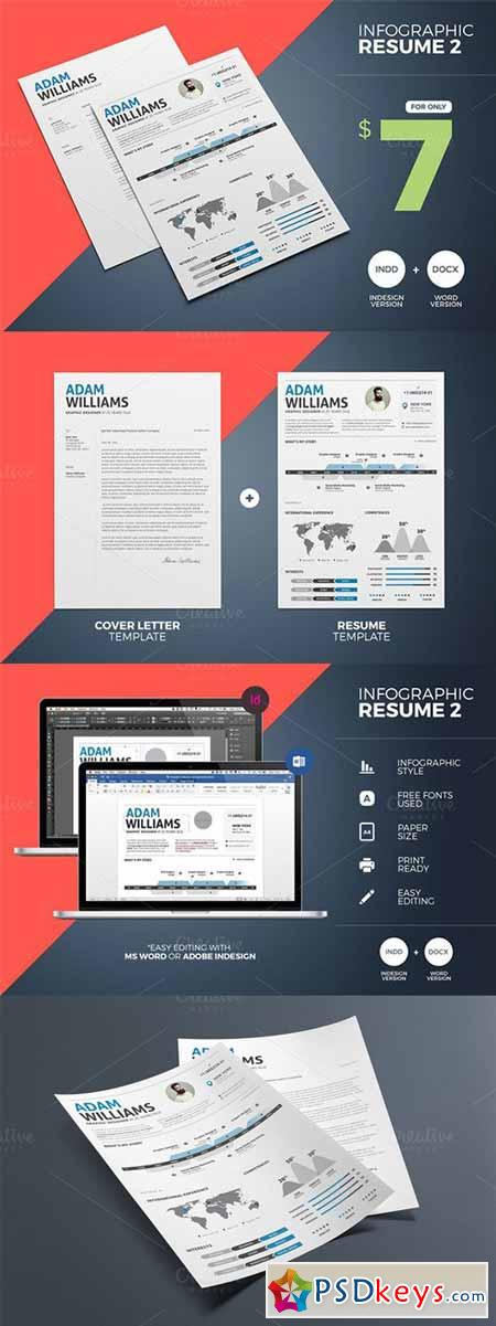 Infographic Resume 2 Word & Indesign 349648