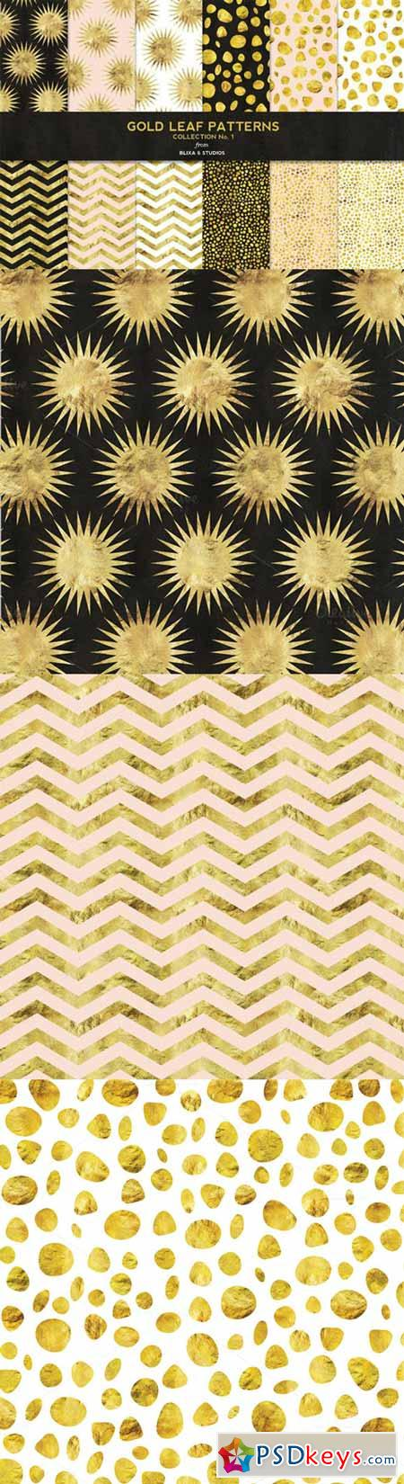 Gold Leaf Digital Patterns No. 1 136714