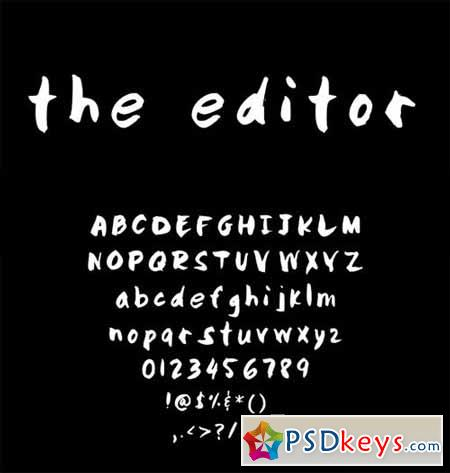 Hand Written font- The Editor 28898