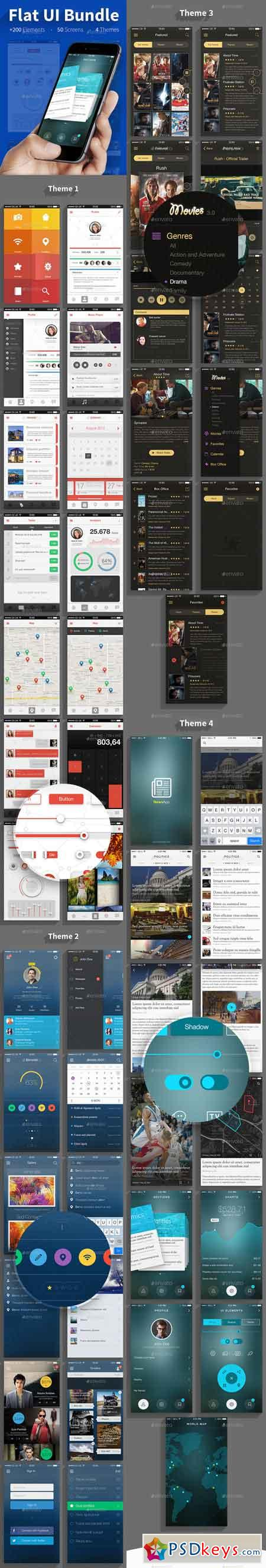 Flat UI Bundle 11620593