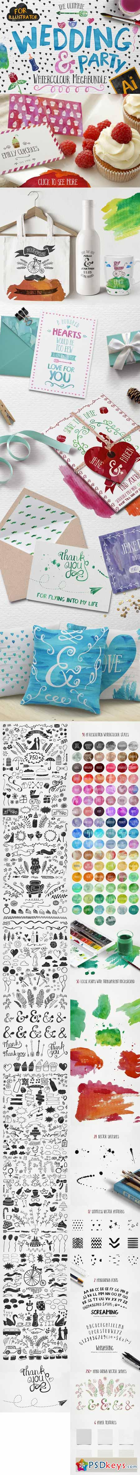 Wedding Watercolour Bundle for Ai 349471
