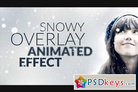 Snowy Animated Overlay in Photoshop 343991