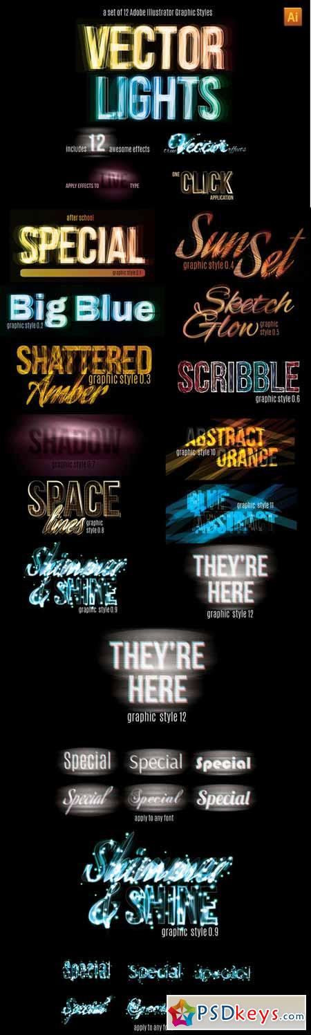 Vector Light Effect Graphic Styles 352652