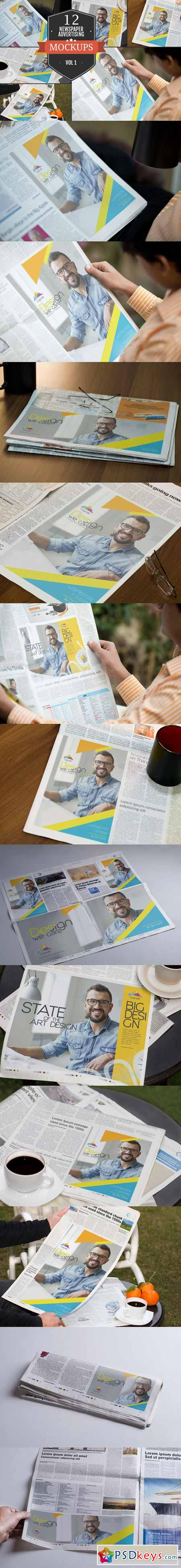 Newspaper Advertising Mockups Vol. 1 351465
