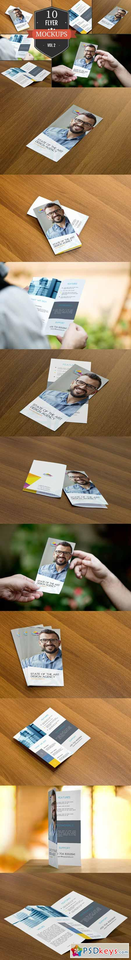 Beautiful Flyer Mockup PSDs Vol. 2 351443