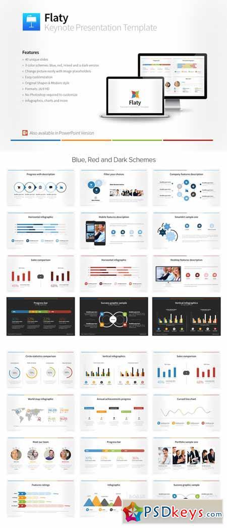 flaty keynote presentation template 333605 » free download, Presentation templates
