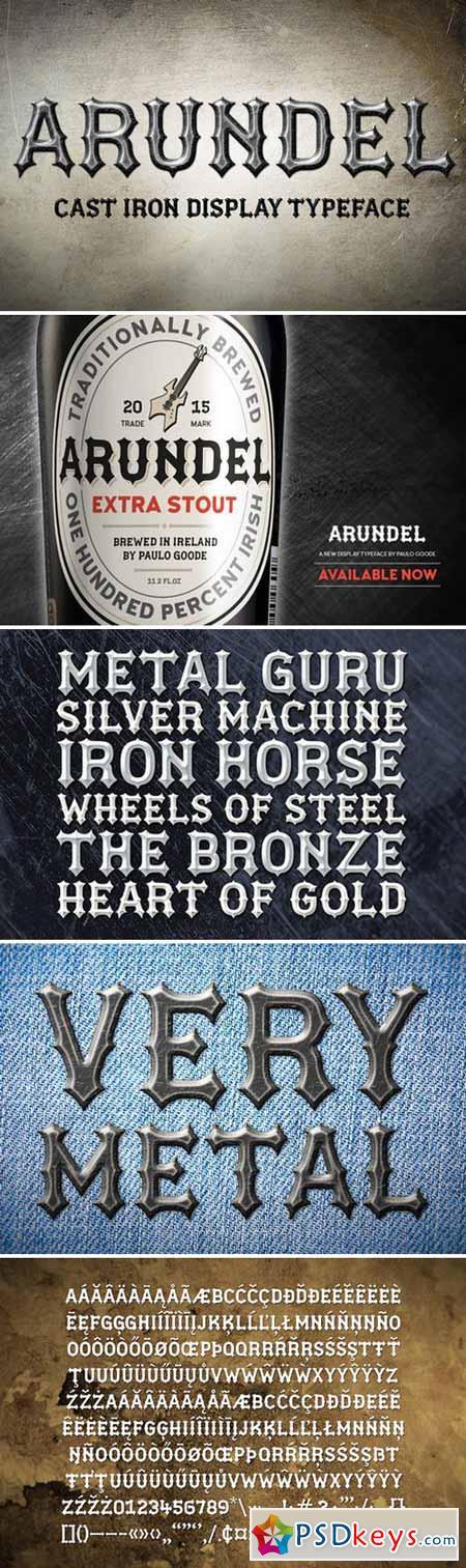 Arundel – Cast Iron Display Typeface 354911