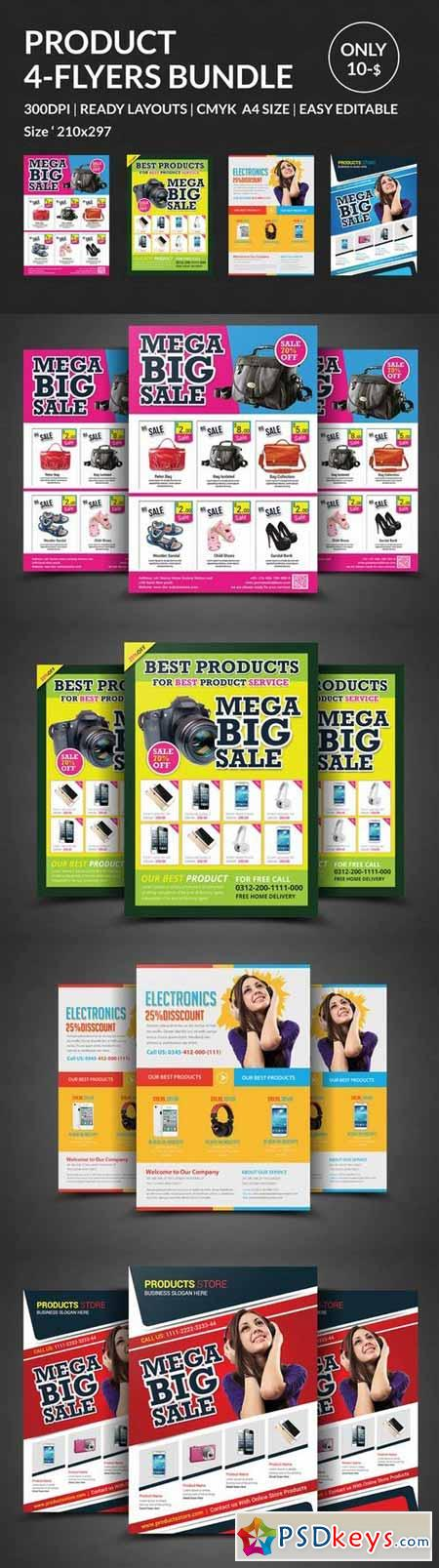 Product Promotion Flyer Bundle 330287