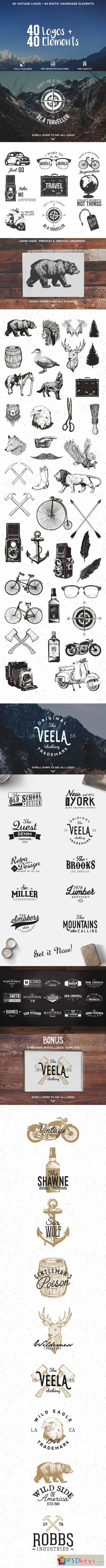 Logos & Elements Bundle 340067