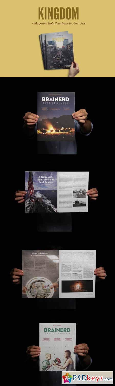 Kingdom Magazine InDesign Template 353321