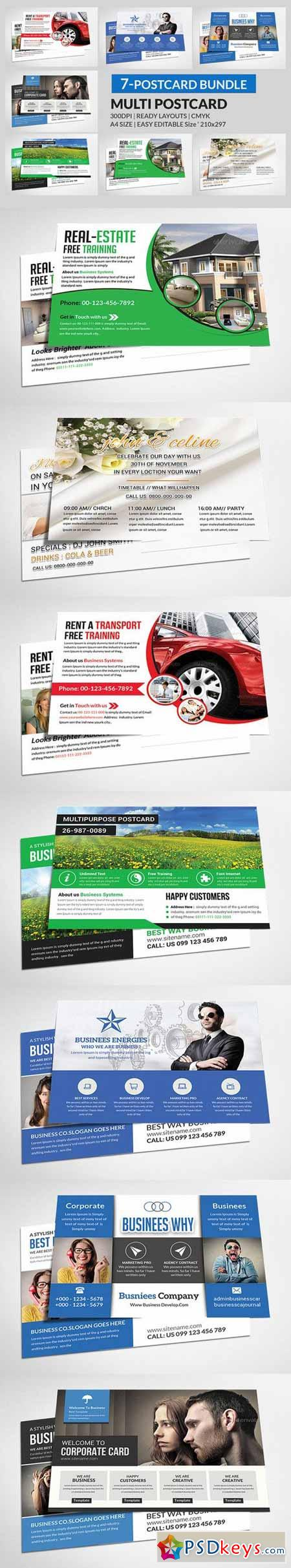 Multipurpose Business Postcard Bundle 342410