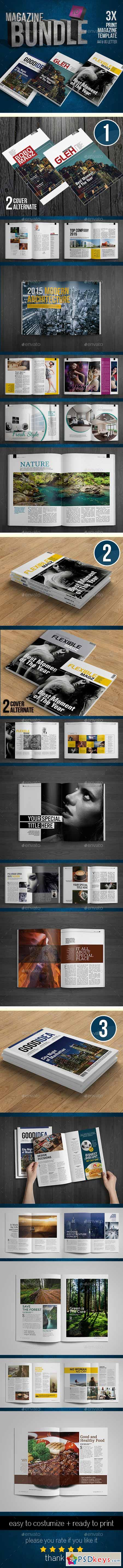 Indesign Magazine Bundle 12617555 » Free Download Photoshop Vector ...