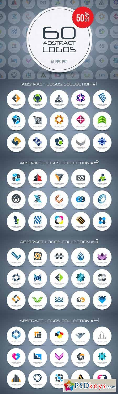 60 abstract logos - super bundle 334938 » Free Download