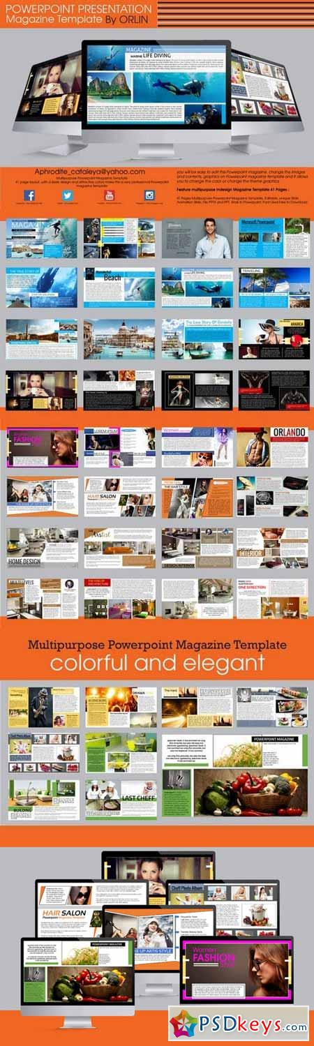 powerpoint magazine template 360601 » free download photoshop, Powerpoint templates