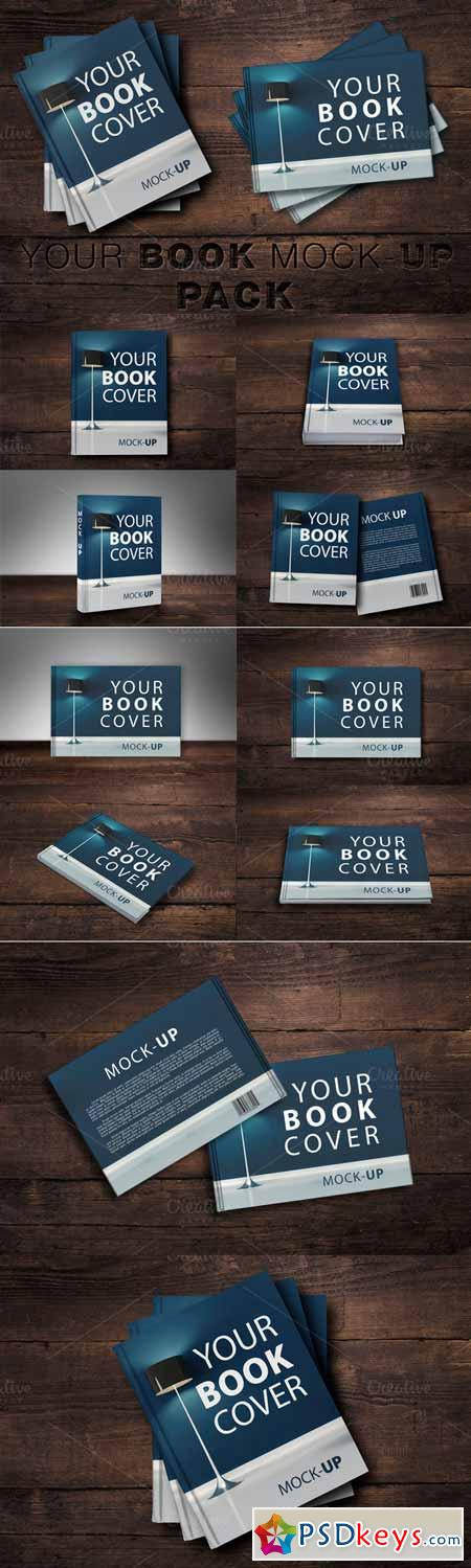 Cook Book Cover Ups : Book cover mock up pack free download photoshop