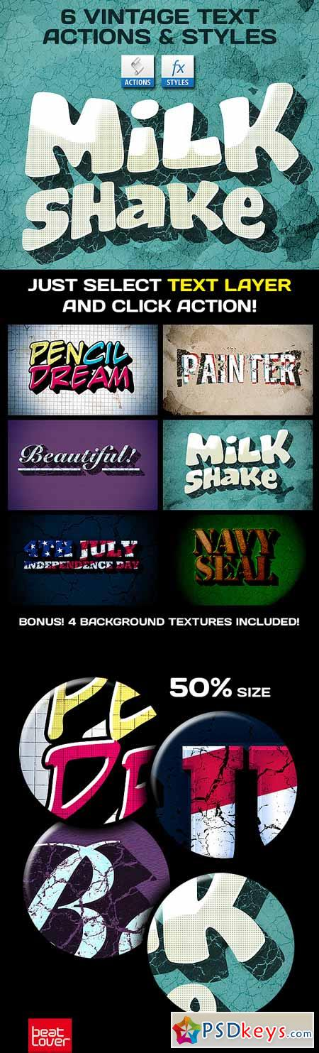 Vintage Text Actions Styles Textures Bundle 309272
