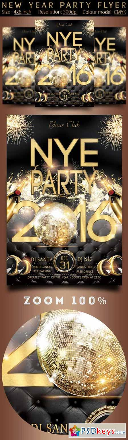 New Year Party Flyer 362874