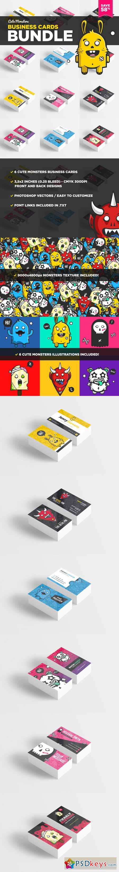 Cute Monsters Business Card Bundle 363400