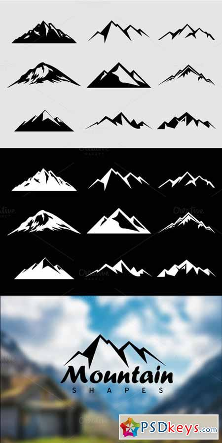 Mountain Shapes For Logos Vol 2 52082 » Free Download