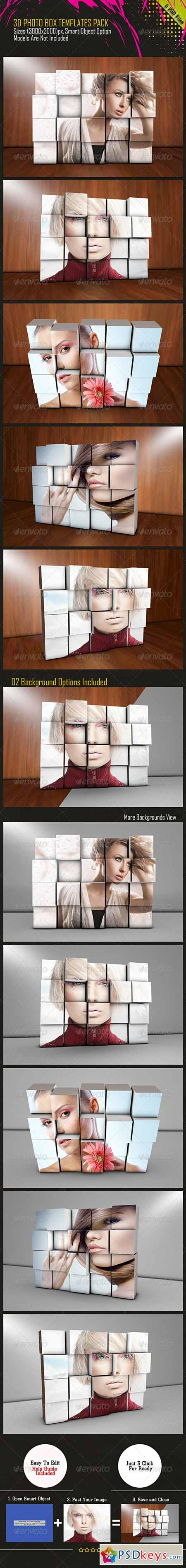 3D PhotoBox Templates Pack 7571007 » Free Download Photoshop