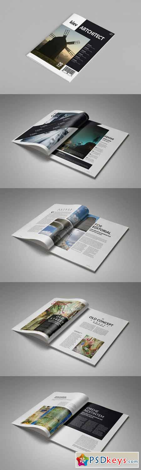 InDesign Magazine Template 20 Pages 128769