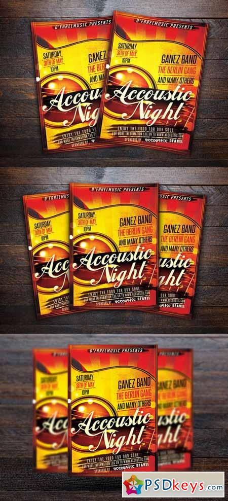 Accoustic Night Concert Flyer 364605