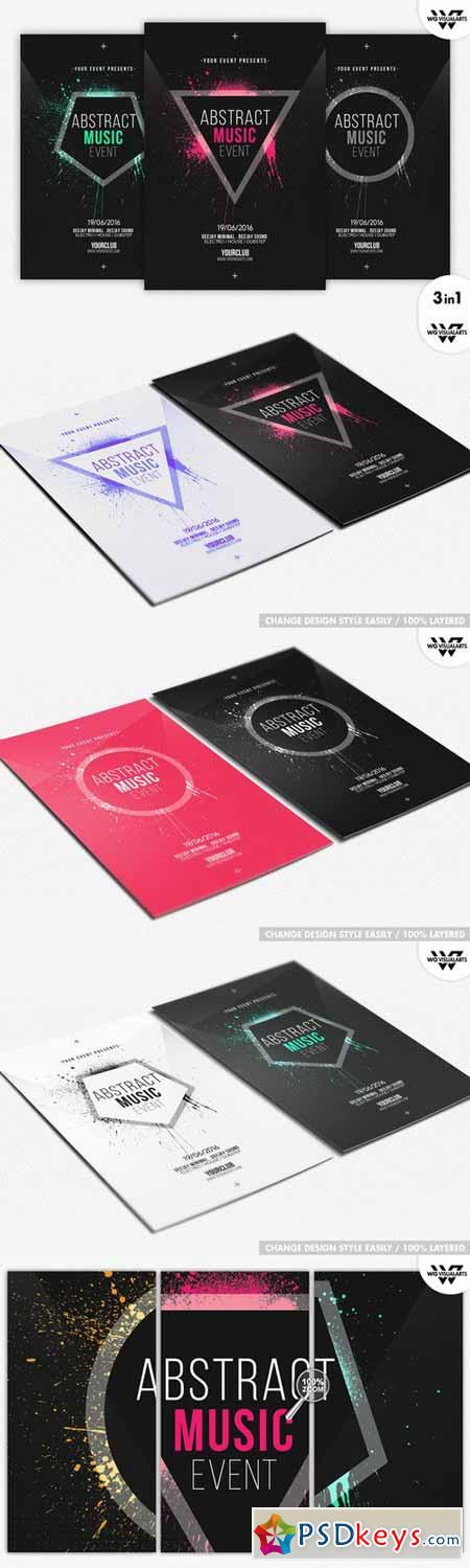 MINIMAL ABSTRACT Flyer Template 364175