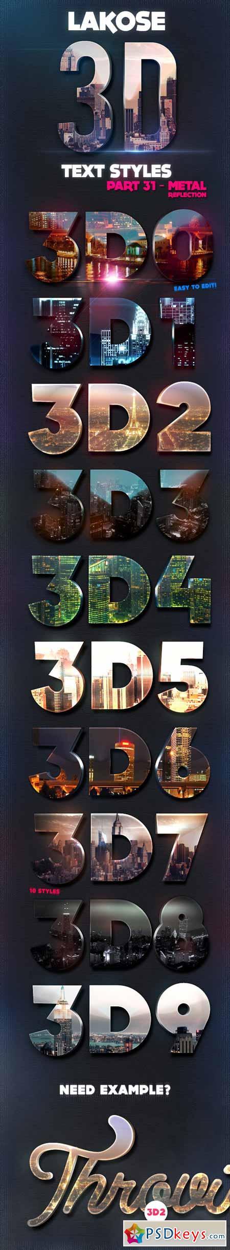 Lakose 3D Text Styles Part 31