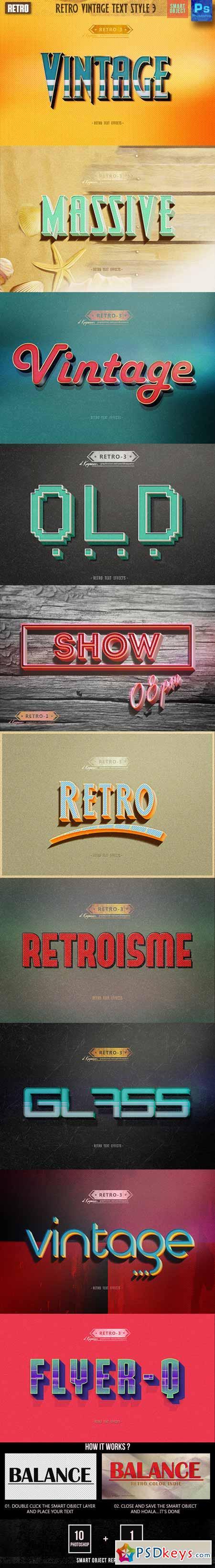 Retro Vintage Text Style 3 12851979
