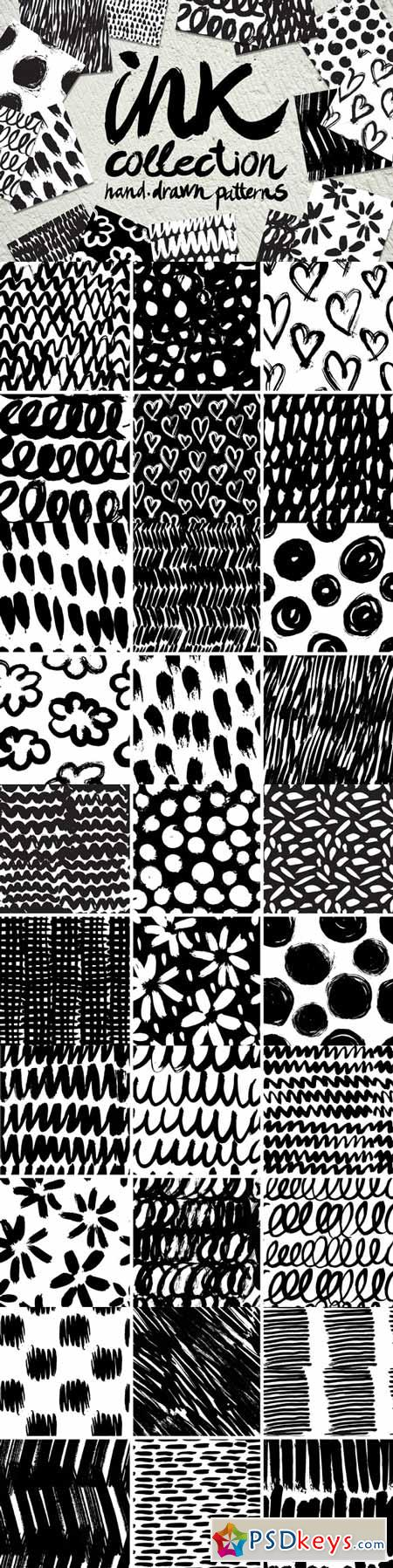 Vector collection of ink patterns 353817
