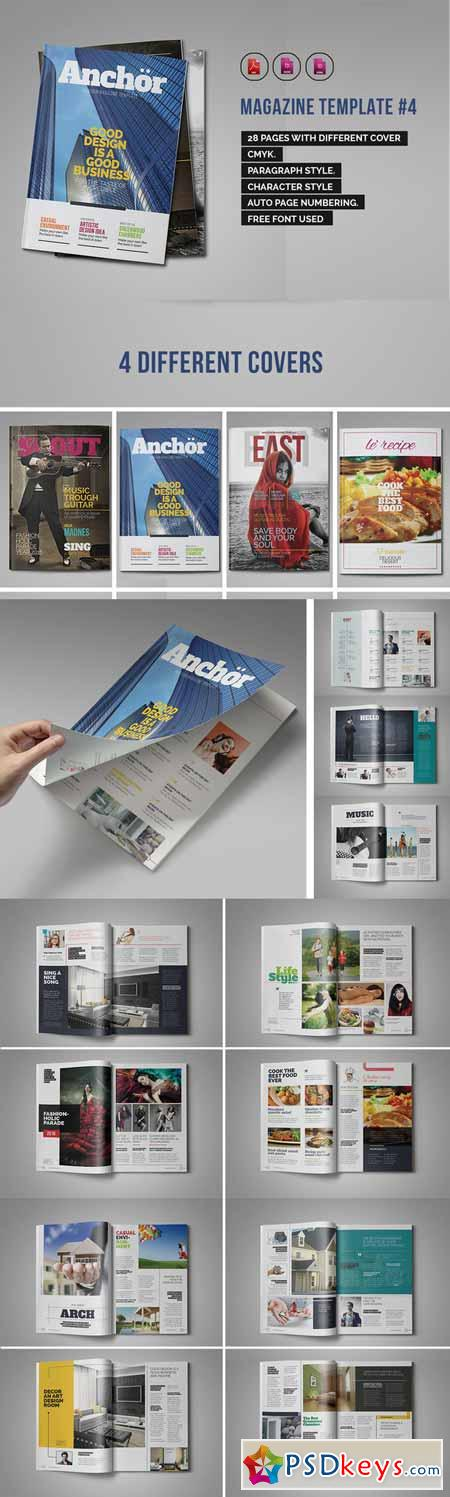 Indesign Magazine Template #4 364861