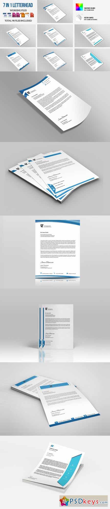 Corporate Letterhead 7 in 1 366817