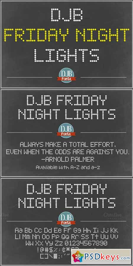 DJB Friday Night Lights Font 371688