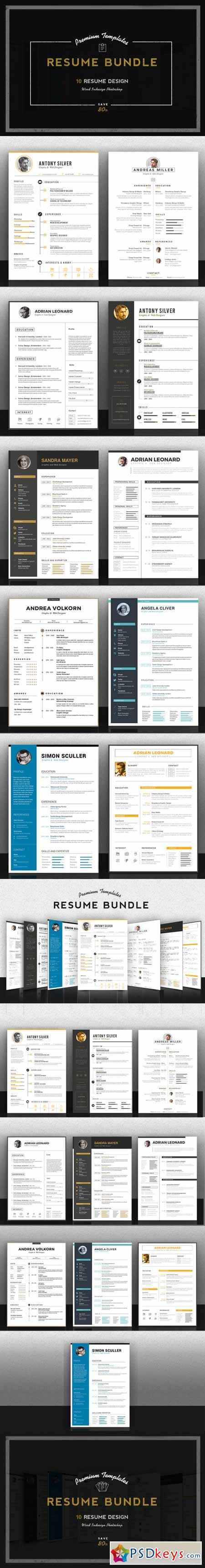 premium resume bundle photoshop vector premium resume bundle 371242