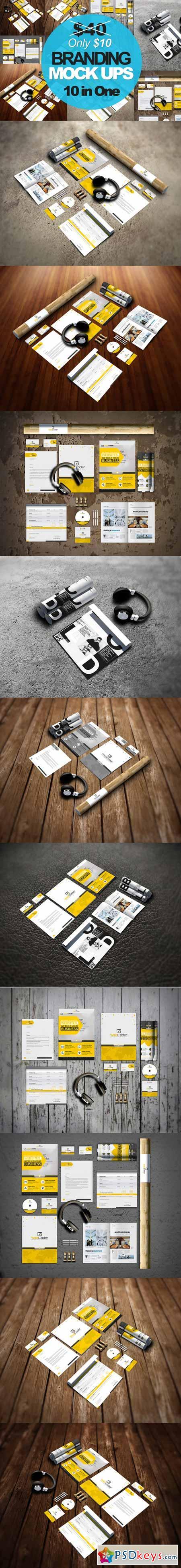 Stationery Branding Mock-ups 350684