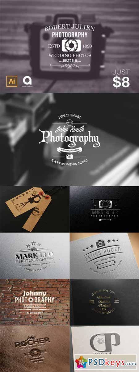 12 Photographer Logo Pack 223141