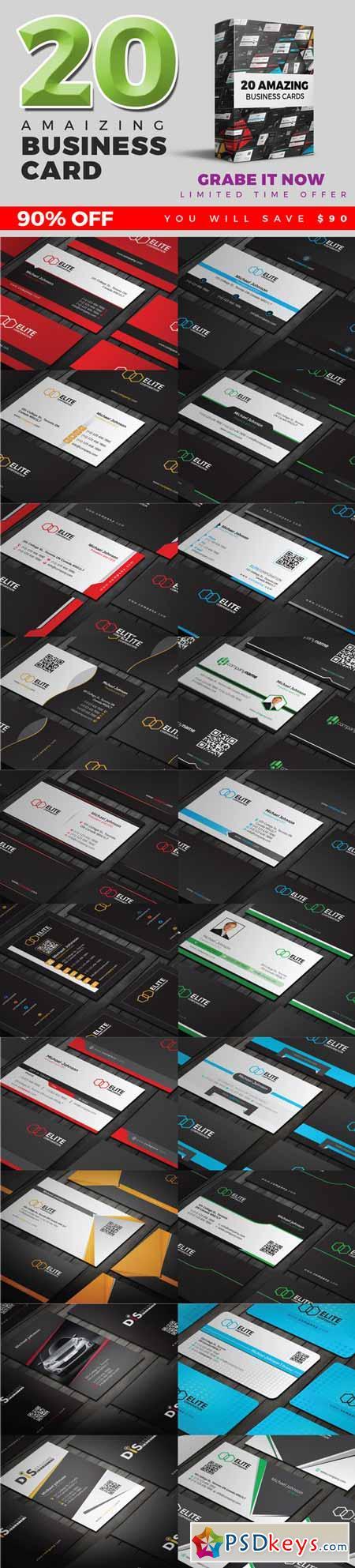 20 Business Card Bundle 373642