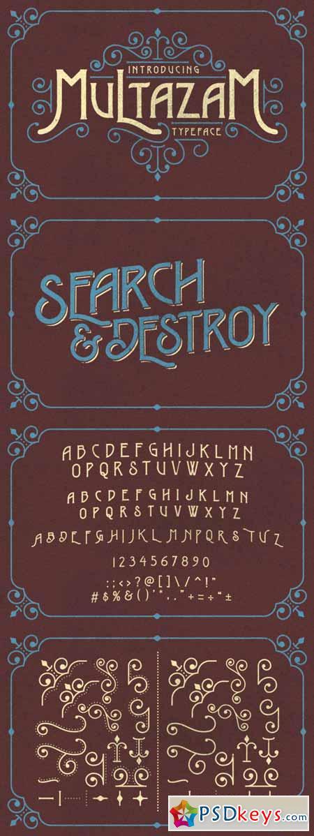Multazam Typeface 373058