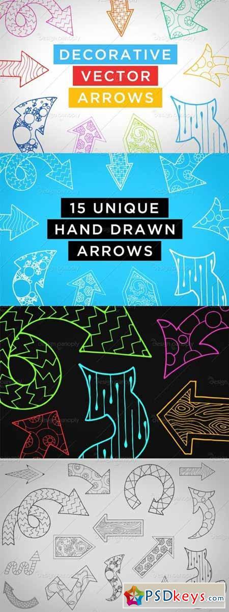Decorative Vector Arrows Volume 1